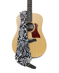 scarf guitar strap